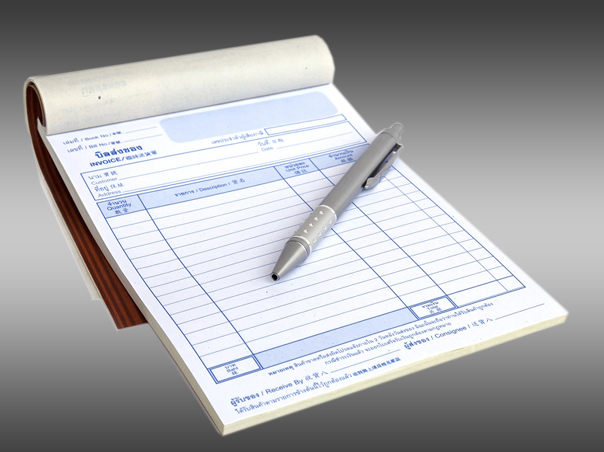 Invoice Pad And Bill Books printing